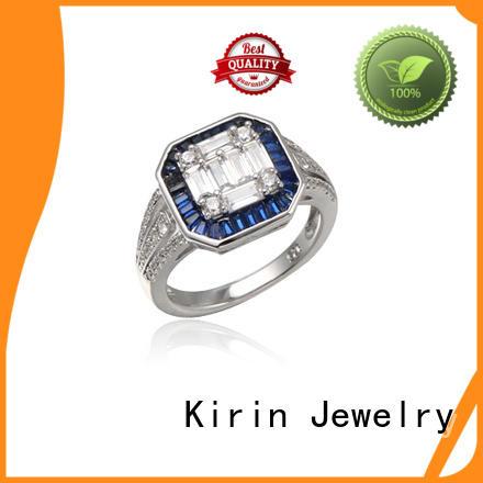 Kirin oval silver ring set bulk production for lover