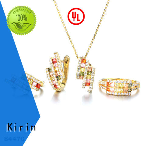 Kirin triangle rainbow sapphire necklace wholesale for woman