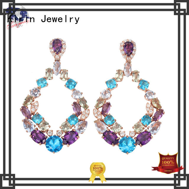 promise clip Kirin Jewelry Brand gold jewellery earrings factory