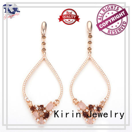 Kirin Jewelry Brand authentic clip 925 sterling silver earrings manufacture
