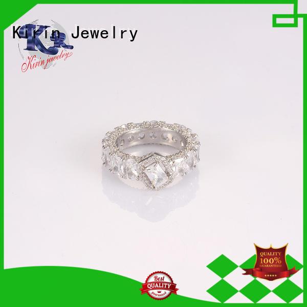 Kirin Jewelry Brand rose ladies baguette custom 925 sterling silver jewelry rings