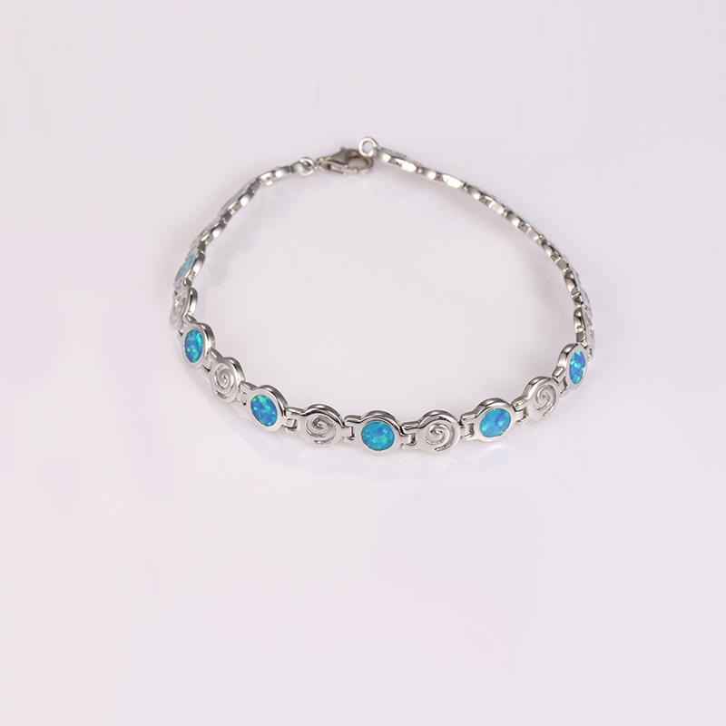 Kirin Jewelry -Manufacturer Of Jewelry Chain Blue Fire Opal Bracelet For Lady Party-1