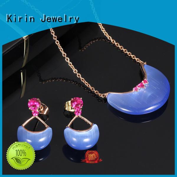 splendid ladies jewellery set heart bulk production for mom