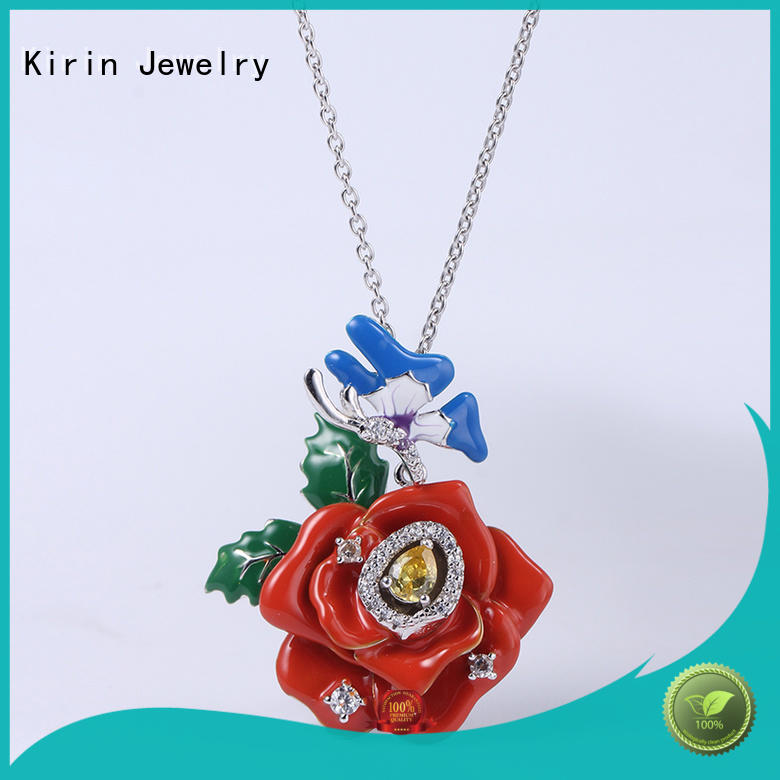Kirin flower real jewelry sets by Chinese manufaturer for girl