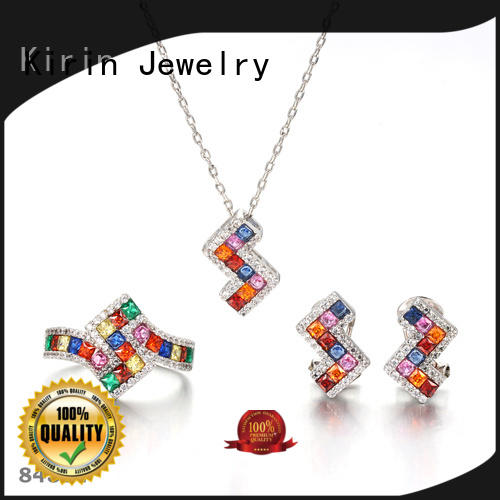 Kirin square rainbow jewelry factory price for girl
