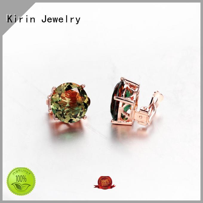 Round Cubic Zirconia Clip Earrings Fashion Wedding Bridal Rhodium Earring Jewelry 33768