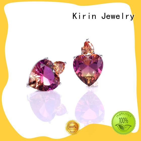 Wholesale 925 Sterling Silver Zircon Heart Shape Pendant Stud Earrings Jewelry Gifts 39210