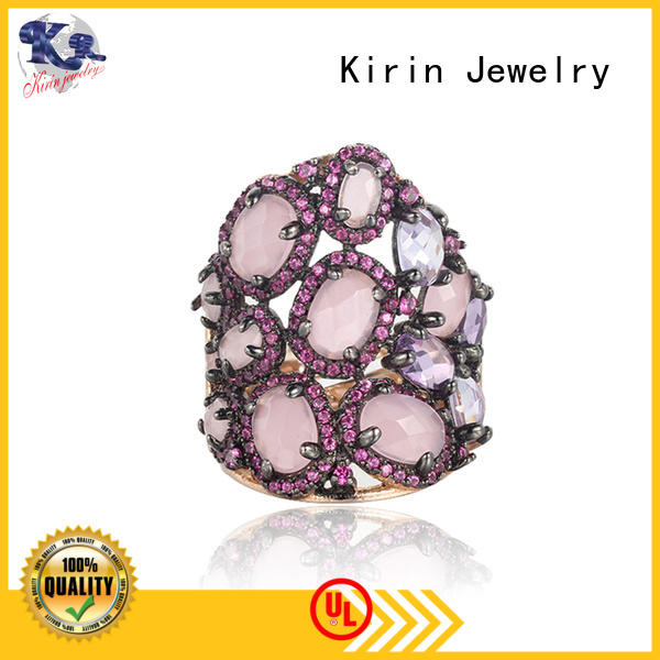 rose sterling silver cross ring bulk production for girlfriend
