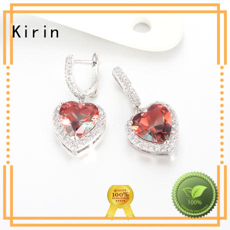 Kirin gifts silver heart earrings studs from manufacturer for partner