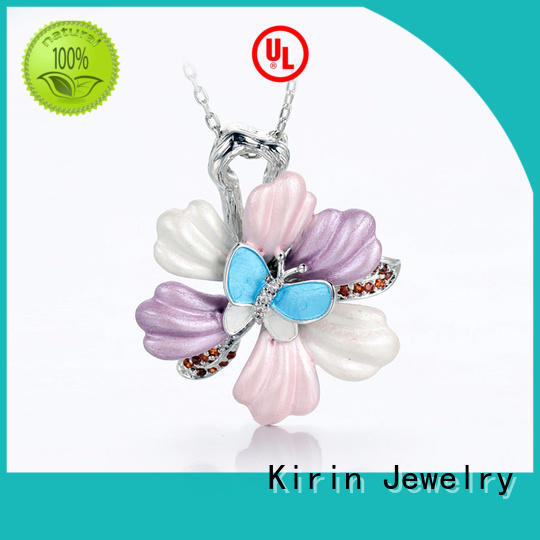 attractive sterling silver necklace womens factory price for lover