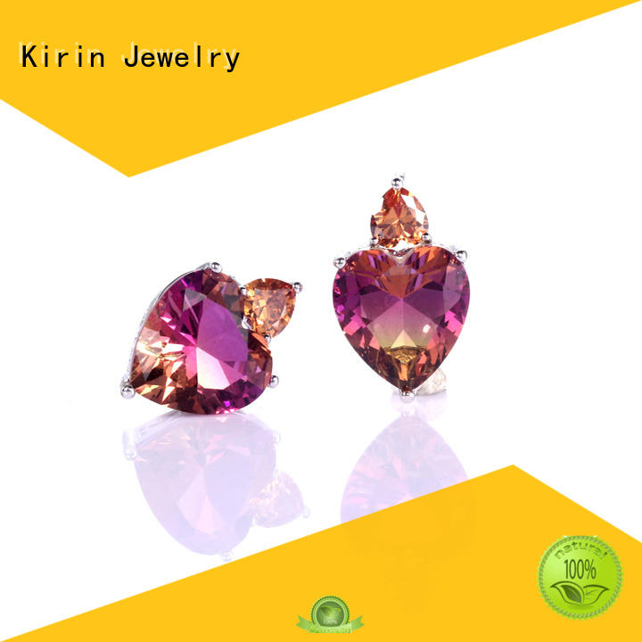 cushion circle girls 925 sterling silver earrings Kirin Jewelry Brand company