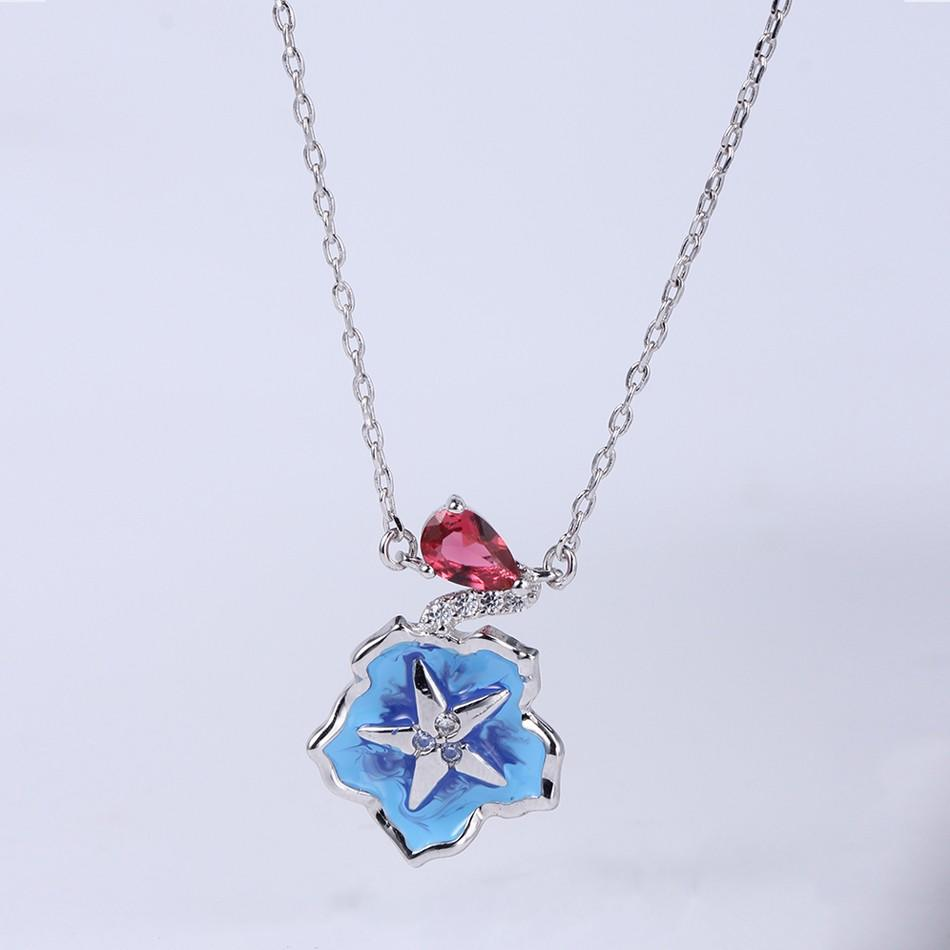 Kirin party cubic zirconia necklace and earring set free quote for lover-1