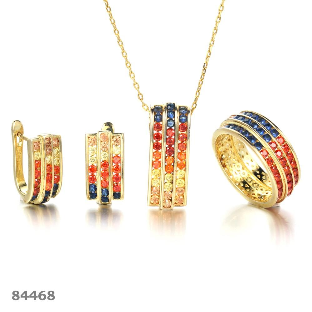 gorgeous diamond necklace and earring set colorful factory price for lover-1