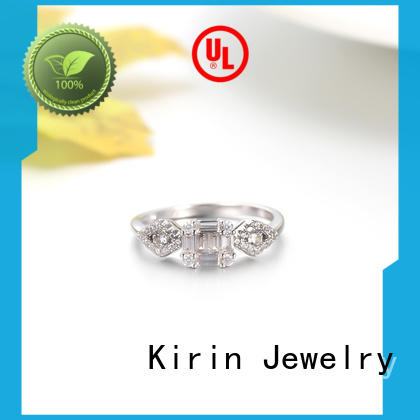 Kirin fine rhodium plated ring China factory for mother