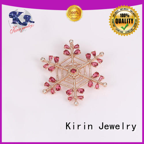 Kirin Jewelry appealing silver brooches China factory for mother