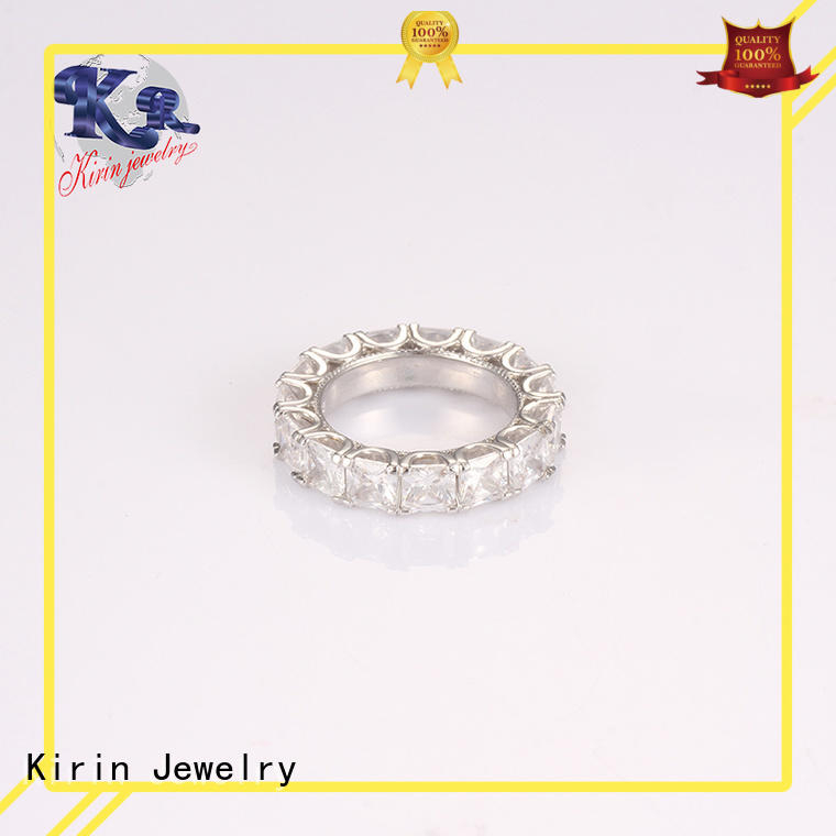 ladys gender circle 925 sterling silver rings Kirin Jewelry Brand