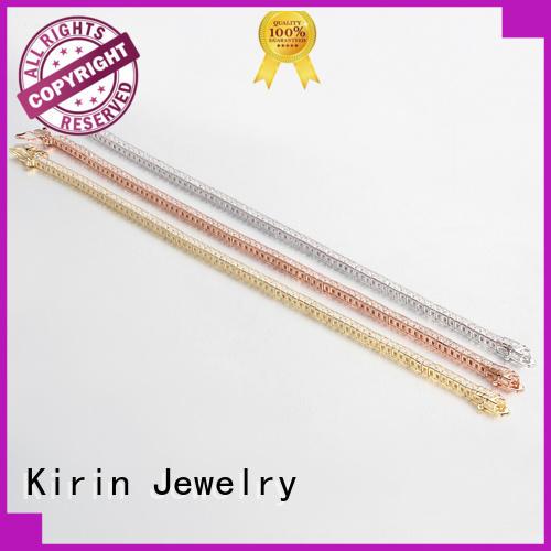Kirin Jewelry Brand plated multicolor diy simple silver bracelet
