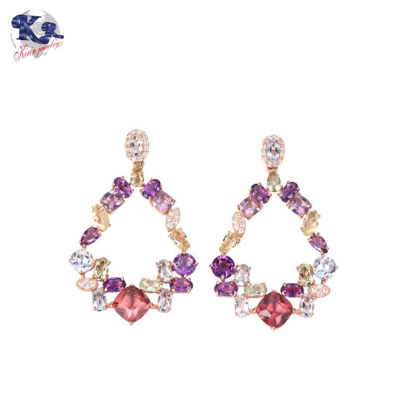 Kirin Jewelry -Gemstone Earrings, Kirin 925 Sterling Silver Earrings For Women