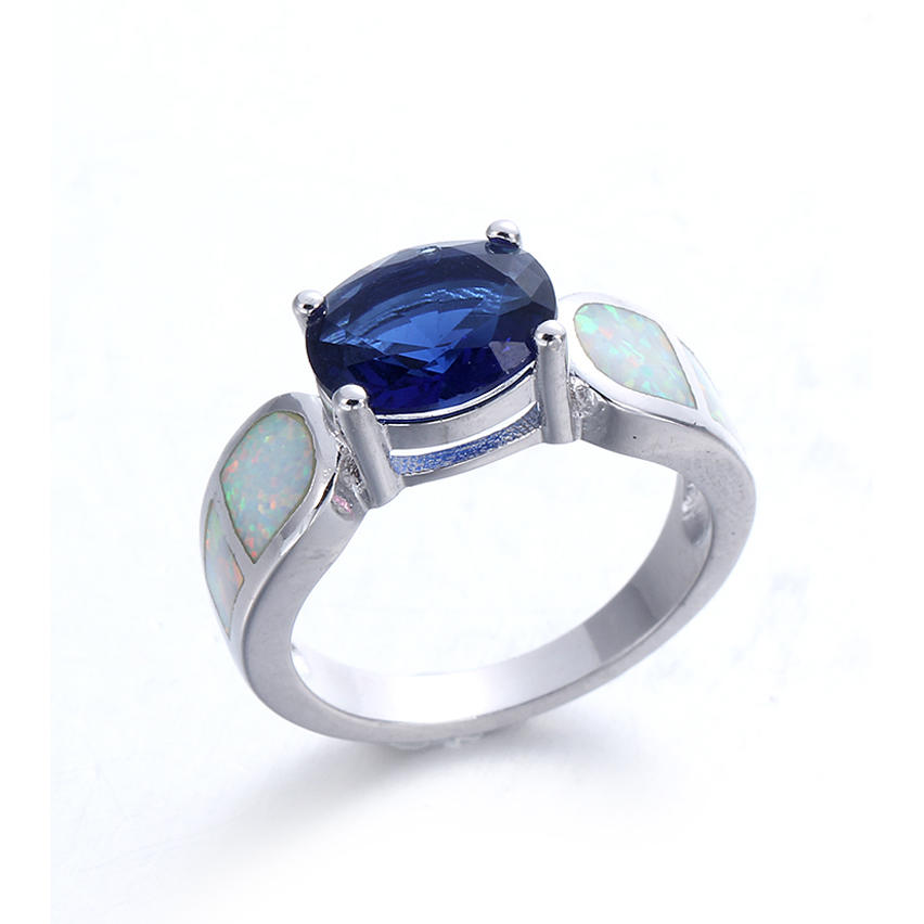 Kirin charming simple opal ring free quote for female-1