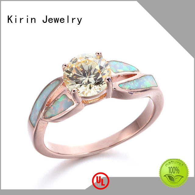 Kirin Jewelry appealing 925 silver rings for women bridal for family