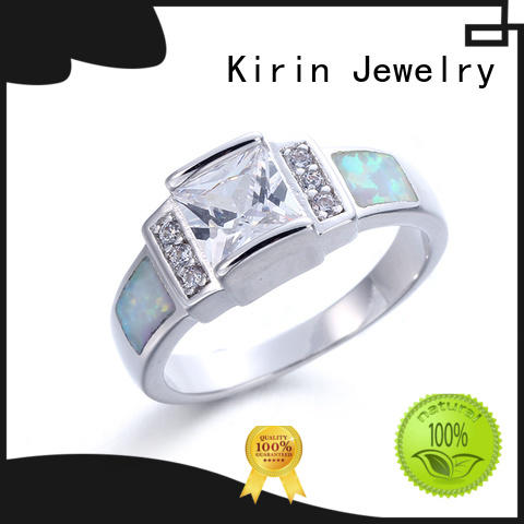 Kirin Jewelry two best sterling silver rings from China for partner