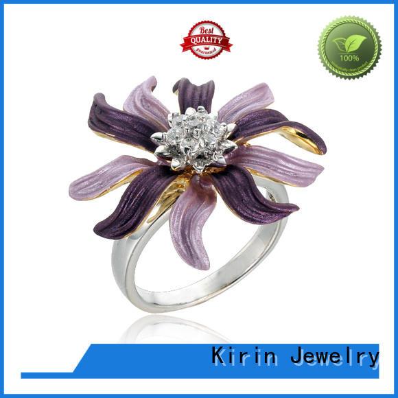 handmade long silver ring s925 for partner Kirin Jewelry