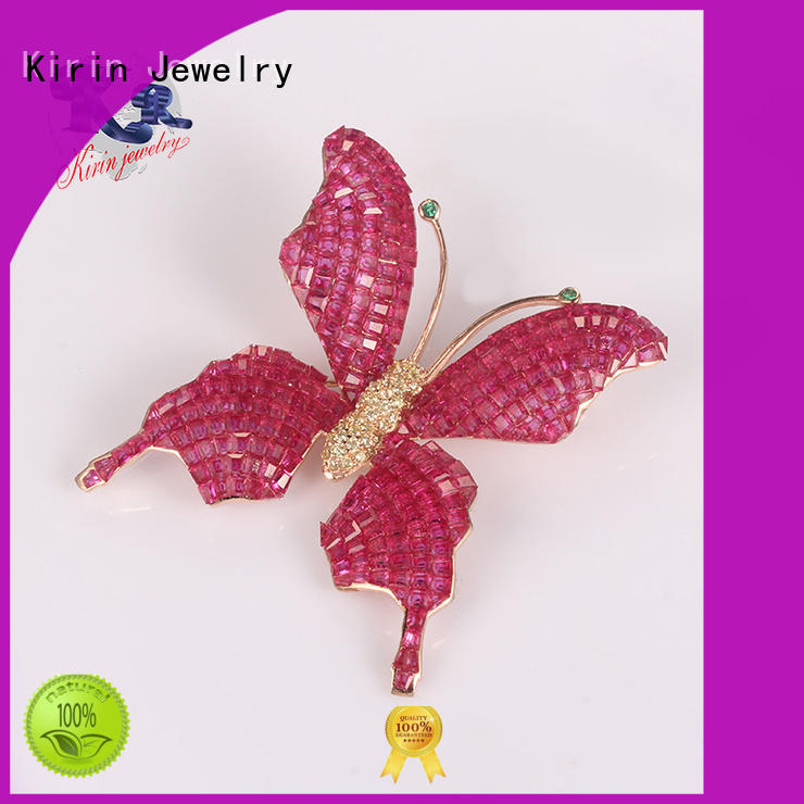 sterling silver safety pin jewelry flower for lover Kirin Jewelry