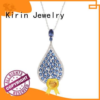 blooms opal cz 925 sterling silver pendants Kirin Jewelry Brand