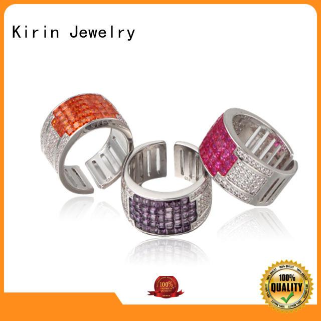 Kirin zirconia silver costume jewelry China factory for lover