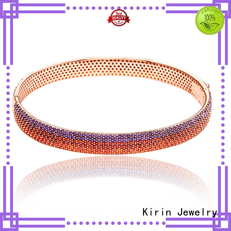 square great 18k 925 sterling silver bracelets Kirin Jewelry Brand company