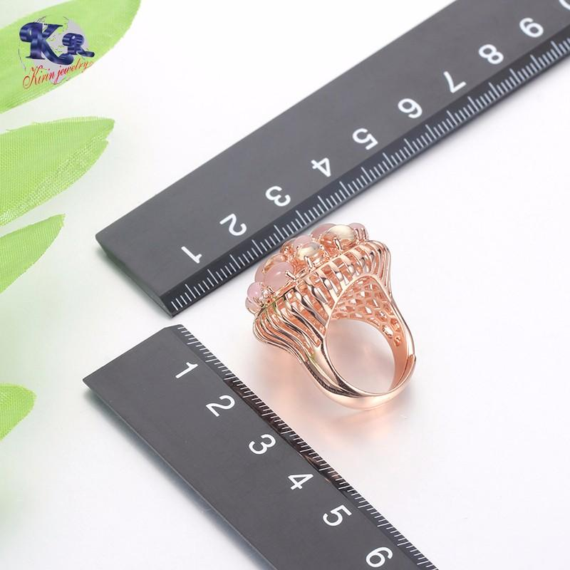 Kirin Jewelry -925 Rose Gold Plated Silver Ring Made With Zirconia Kirin Jewelry 17045-1