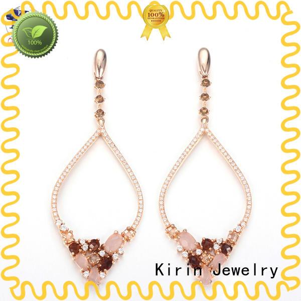 luxury solid silver earrings sterling for lover Kirin Jewelry