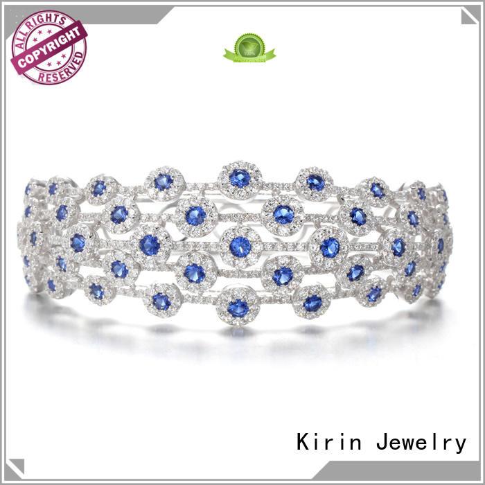 inexpensive silver jewelry ring sapphire simple Kirin Jewelry Brand pave setting jewelry
