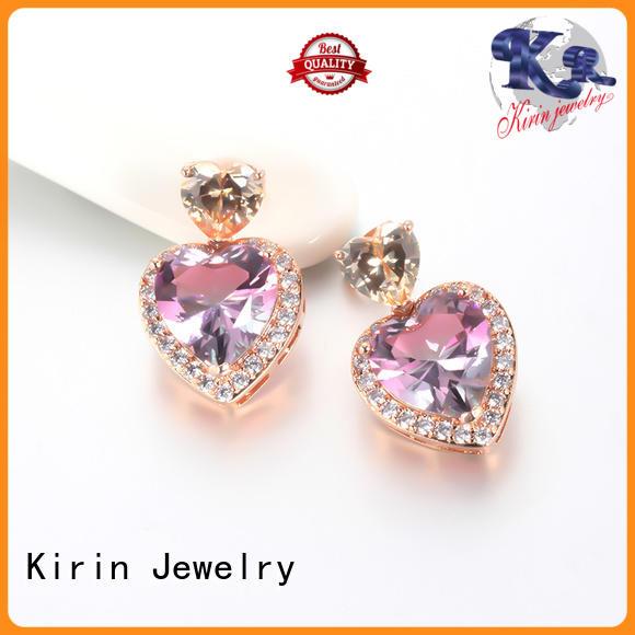 Kirin gifts classic silver earrings free design for girlfriend