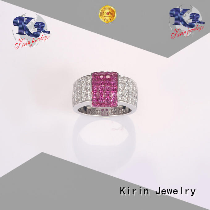 lucky czstudded oval 925 sterling silver jewelry rings Kirin Jewelry Brand