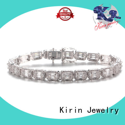 Kirin baguette sterling silver jewelry China supply for family