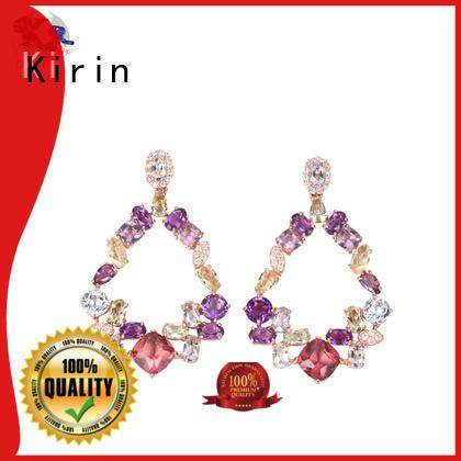 Kirin plated flat stud earrings from manufacturer for girl