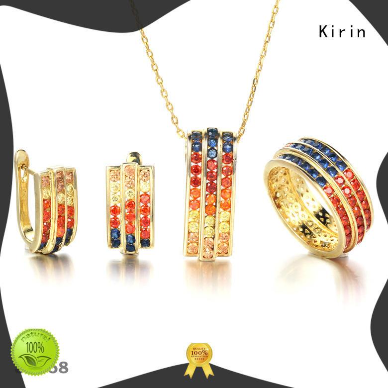 Kirin setting rainbow opal earrings Supply for female
