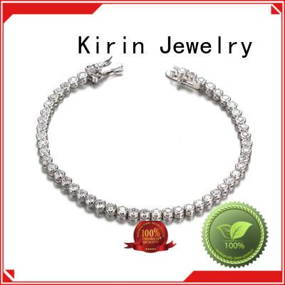 inspirational rhodium pear girl simple silver bracelet Kirin Jewelry Brand