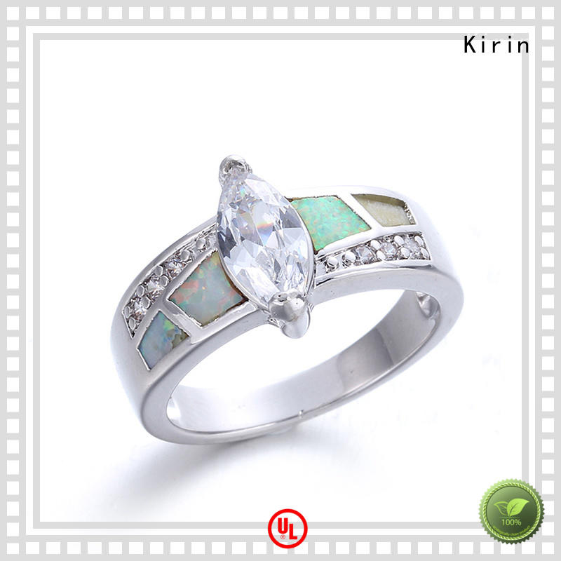 extravagant opal band ring woman China Factory for mate