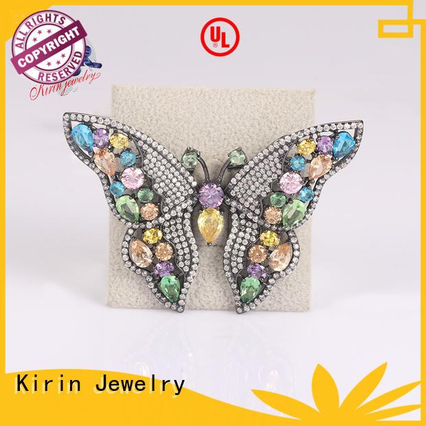 butterfly 925 sterling silver brooch fine for mother Kirin Jewelry