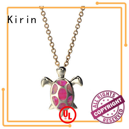 Kirin charming sterling silver circle pendant necklace wholesale for girl