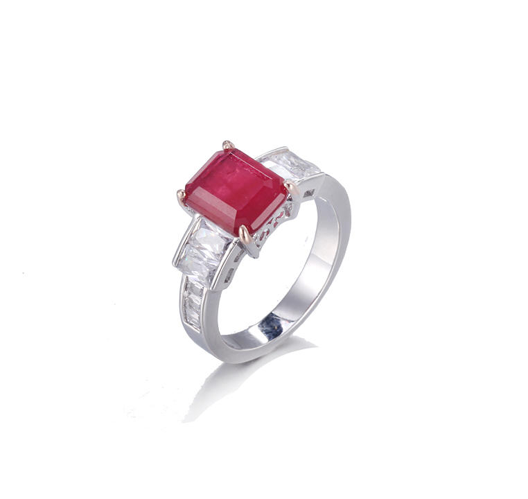 Kirin Jewelry -Find Prong Setting Jewelry Genuine 925 Sterling Silver Ring July Birthstone