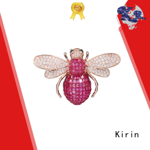 Kirin anniversary silver costume jewelry in different color for female