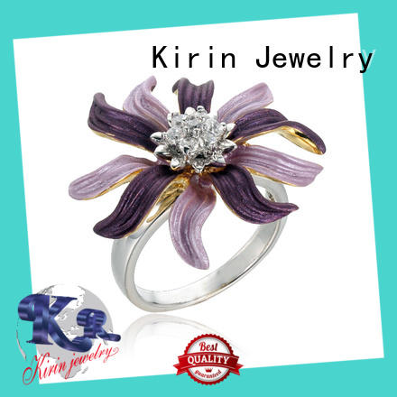 Kirin color pretty sterling silver rings customization for mate
