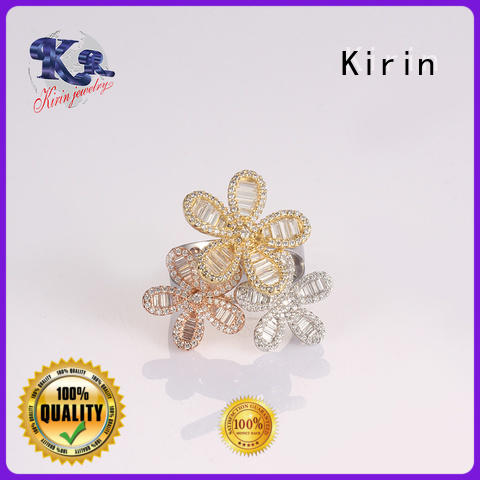 Kirin Latest silver heart ring from China for mate