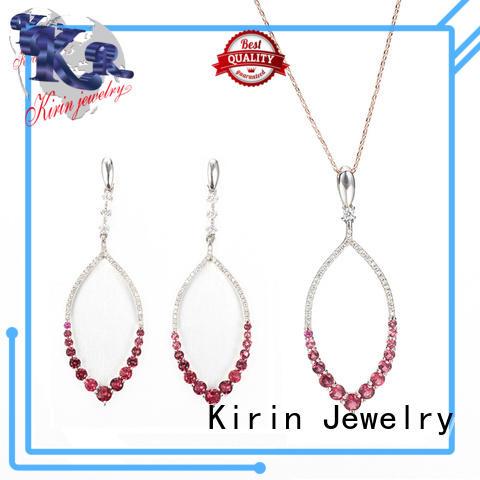 opal elegance drop 925 sterling silver jewelry sets Kirin Jewelry Brand company