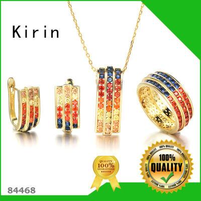 Kirin alluring rainbow moonstone necklace wholesale for girlfriend