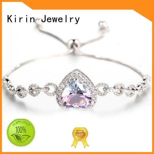 pear romantic woman prong setting jewelry 1pair Kirin Jewelry Brand