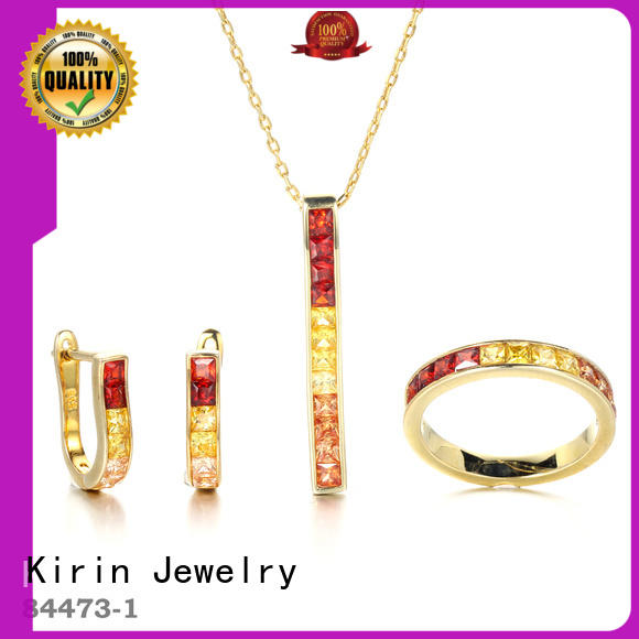 Kirin earrings rainbow gemstone necklace China factory for girlfriend